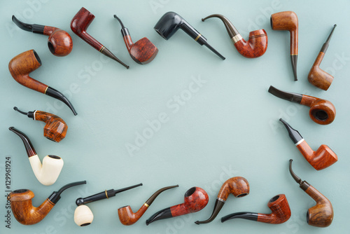 Plagát, Obraz Collection of pipes with copyspace in the middle