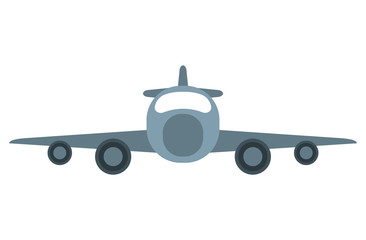 jet airplane private transport front view vector illustration eps 10