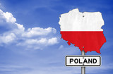 Fototapety Poland - road sign map
