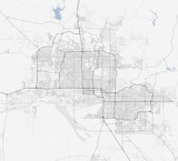 Map Phoenix city. Arizona Roads