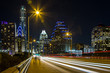 Austin downtown as observed from Congress Avenue Bridge