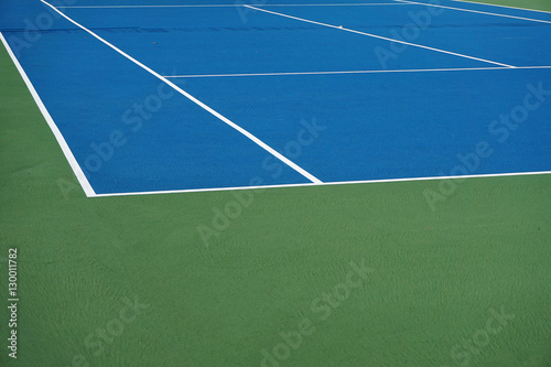 Plexiglas Tennis close up on tennis court