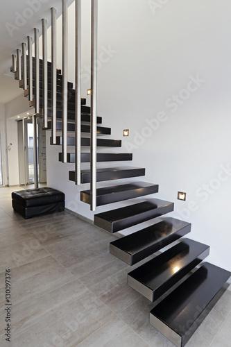 architecture escalier moderne intérieur maison design Poster