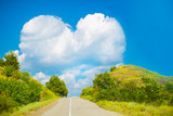 The way to love or a large cloud in the shape of a heart - 130099983
