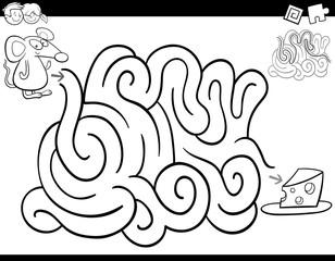 maze game coloring book