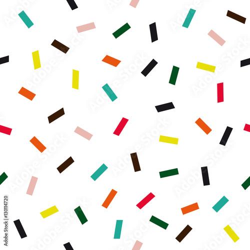 Confetti seamless vector pattern
