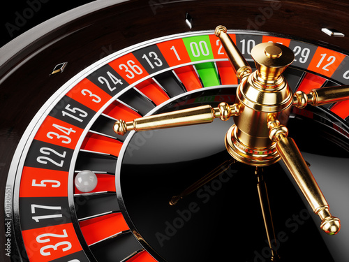 Plakat Casino gold roulette close up