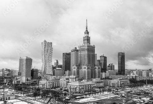 Fototapeta Warsaw town center downtown