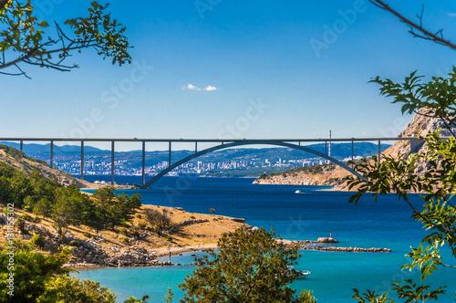 The Krk bridge in Croatia