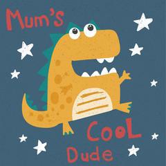 cool vector illustration of dinosaur
