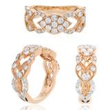 anillo argolla en oro amarillo con diamantes , zafiros y rubies gemas  Ring in yellow gold with diamonds, sapphires and rubies gems