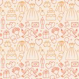 Wedding hand drawn seamless pattern background 6 - 130194790