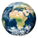 Planet Earth with clouds, Africa - Pianeta Terra con nuvole, Africa