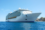 Luxury cruise ship in Mexico