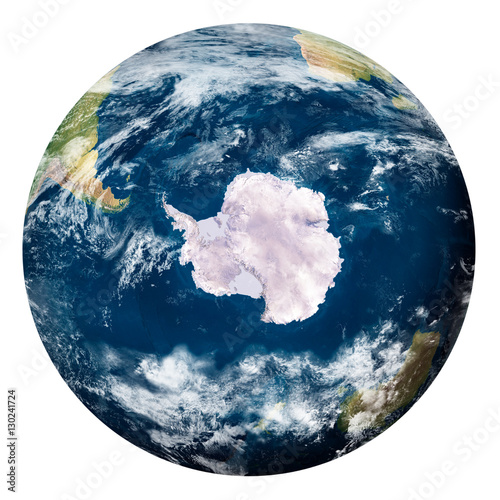 Foto op Plexiglas Nasa Planet Earth with clouds, Antartide - Pianeta Terra con nuvole, Antartide