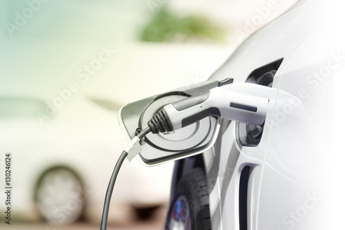 Charging an electric car, Future of transportation Poster