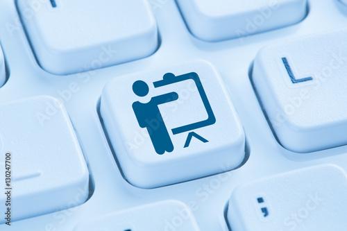 Schulung Training lernen Coaching Bildung Workshop online Intern Poster