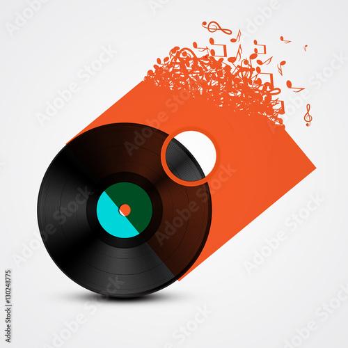disco-de-vinilo-lp-con-cubierta-transparente-hecha-de-notas-musicales-resumen-ilustracion-vectorial