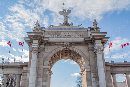 Papiers peints Toronto Closeup view of Princes Gates at Exhibition Place (CNE) on February 06, 2016 in Toronto, Canada Exhibition Place is a mixed-use district in Toronto.