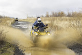 Fototapety Travel on ATVs in a part of water