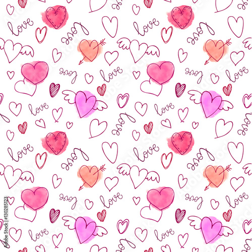 Cotton fabric Vector Seamless pattern.