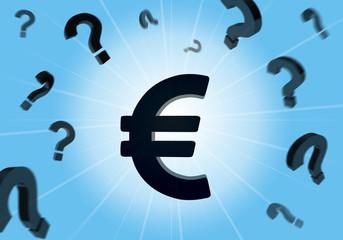Euro, Fragen, Fragezeichen