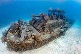 Small, coral encrusted shipwreck
