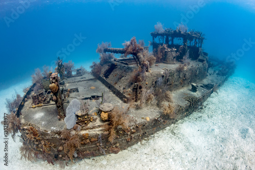 Small, coral encrusted shipwreck