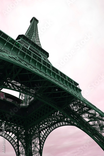 Eiffel Tower - retro postcard styled. © denys_kuvaiev