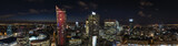 Fototapety Panoramic view of Warsaw downtown during the night