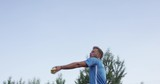 Tennis Player Serves And Playes Forehand