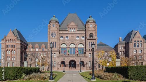 In de dag Toronto Ontario Legislative Building at Queen's Park, Toronto, Canada