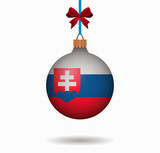 isolated christmas ball slovakia