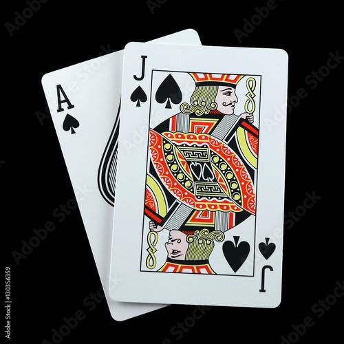 Poster Blackjack spades