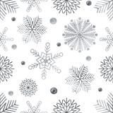 Watercolour snowflakes seamless pattern - 130360798