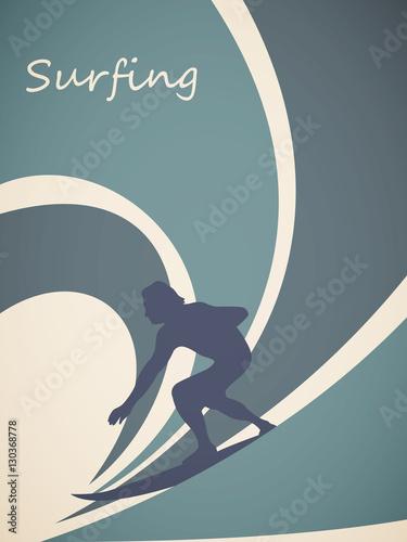 wektorowy-ilustracyjny-surfingowiec-i-duza-fala-styl-retro