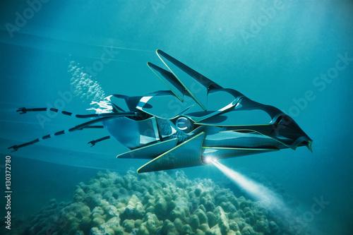 Poster UFO under water
