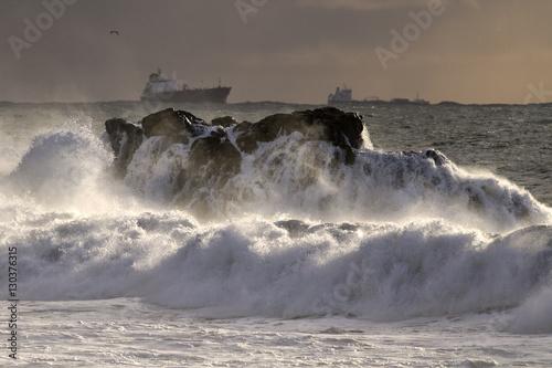 Autumn sea storm