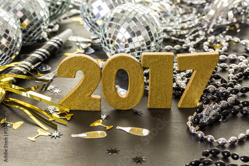 Poster New year decoration