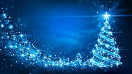 Christmas card with Magic Tree. Vector