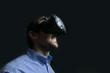 Man wearing virtual reality goggles. low key photo