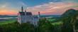 Neuschwanstein Panorama Sunset
