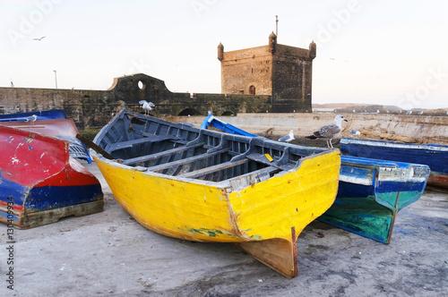 Essaouira harbour, Morocco, Africa Plakat