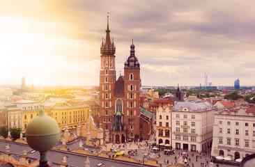 Kościół Mariacki w Krakowie promienie