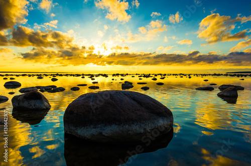 Foto op Canvas Oranje Coast