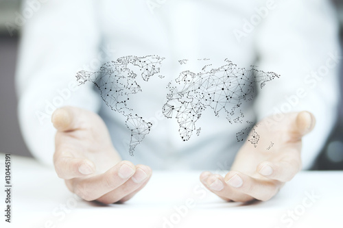 World Map On Hands.Businessman Holding World Map In Hands Buy Photos Ap Images