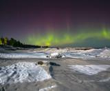 The Aurora, lake Ladoga, Karelian isthmus , Russia
