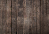 Fototapeta Sypialnia - Old vintage dark brown wooden planks background © breakingthewalls