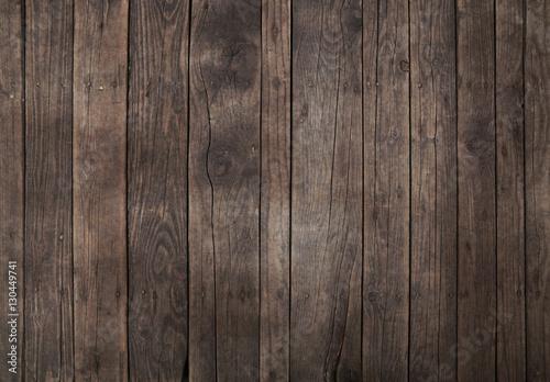 Old vintage dark brown wooden planks background