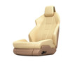 Car seat perspective view without shadow on white background 3d
